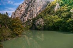 Autumn season in the Furlo gorge Royalty Free Stock Photos
