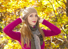 Autumn season girl Stock Photos
