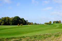 Autumn season on a golf course. Beautiful sunny autumn day  on a golf course Stock Image