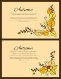 Autumn Season Greeting Card Decorated par le bouquet Image stock