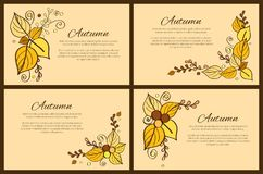 Autumn Season Greeting Card Decorated par le bouquet Image libre de droits