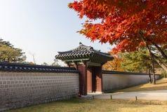 Autumn season of Gyeongbokgung Palace. In Seoul,South Korea stock images
