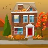 Autumn season house Stock Photography