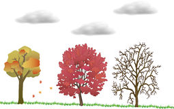 Autumn season illustration Royalty Free Stock Image