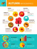 Autumn Season Infographics Foto de archivo