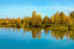 Autumn season on lake Stock Photography