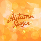 Autumn Season lettering. Hand drawn composition. Sketch, design elements for cards, prints, banners, posters and more. Vector illustration Stock Photography