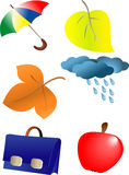 Autumn season ornaments. Vector illustration Royalty Free Stock Photography