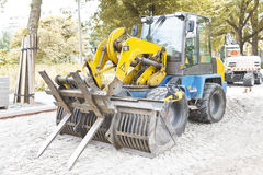Autumn Season Paving, Heavy Machine Royalty Free Stock Photos