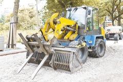Autumn Season Paving, Heavy Machine royalty free stock photos