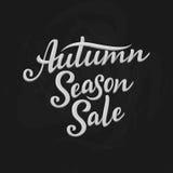Autumn Season Sale, mano escrita poniendo letras al ejemplo Fotos de archivo libres de regalías