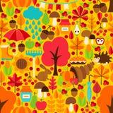 Autumn Season Seamless Pattern Stock Photo