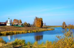 Autumn season in village Stock Photography