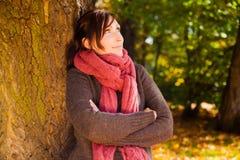 Autumn season woman Stock Images