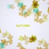 Autumn seasonal background. Eps10, vector illustration Stock Image