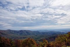 Blue Ridge Mountain range in the Chattahoochee National Forest royalty free stock photography