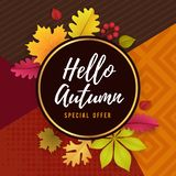 Autumn Seasonal Promoting Poster Template-Design vektor abbildung