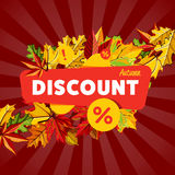 Autumn seasonal sale discount banner. Royalty Free Stock Images
