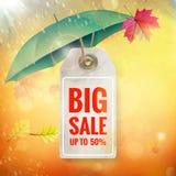 Autumn seasonal sale label. EPS 10 Royalty Free Stock Photos