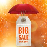 Autumn seasonal sale label. EPS 10 Royalty Free Stock Image