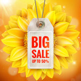 Autumn seasonal sale label. EPS 10 Royalty Free Stock Images