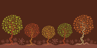 Autumn Seasonal Tree Illustration Royalty Free Stock Images