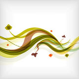 Autumn seasonal wave modern background Stock Photography