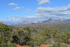Autumn Sedona Mountains. Mountains in Autumn in Sedona, Arizona Stock Images