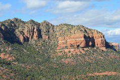 Autumn Sedona Mountains. Mountains in Autumn in Sedona, Arizona Stock Photo