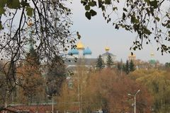 Autumn in Sergiev Posad Russia royalty free stock photography