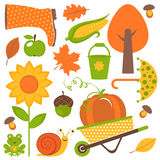 Autumn set Royalty Free Stock Photo