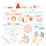 Autumn set Royalty Free Stock Photography