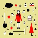 The autumn set vector illustration