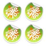 Autumn set sale stickers Stock Image