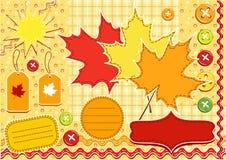 Autumn set for scrapbook . Royalty Free Stock Photo