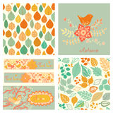 autumn set, seamless pattern with leaf, autumn leaf background. Royalty Free Stock Photo