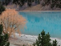 Turquoise Lake Tekapo, New Zealand stock photos