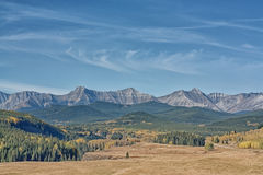 Autumn in the Sheep River Valley Stock Photo