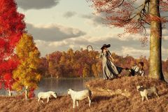Autumn Pastoral vector illustration