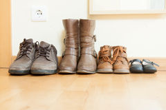 Autumn shoes in  house Stock Photography