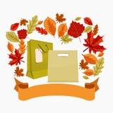 Autumn Shopping Bags en Lint stock illustratie