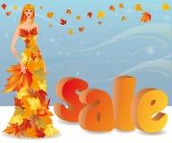 Autumn shopping girl,  Stock Photos