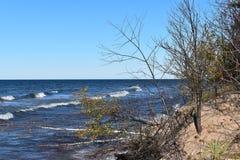 Autumn shoreline of Lake Superior on a sunny fall day Stock Photography