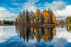 Autumn in Siberia Stock Photos