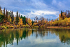Autumn in Siberia Royalty Free Stock Photos