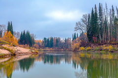 Autumn in Siberia Stock Image