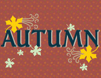 Autumn Sign Stock Photography