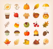 Autumn signs and sybols stock illustration