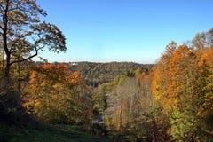 Autumn in Sigulda - Latvia. Colourful autumn in Sigulda valey - Latvia Royalty Free Stock Images