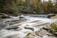 Autumn Silky Waterfall Immagine Stock